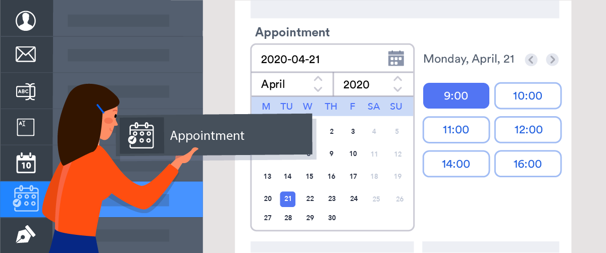 Schedule appointments through forms